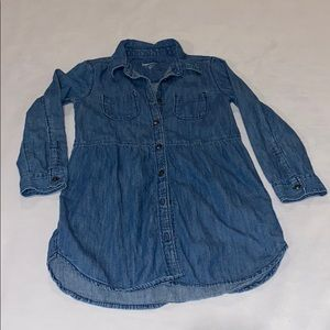 Gap Kids Girls Jean Long Sleeve Dress/Shirt